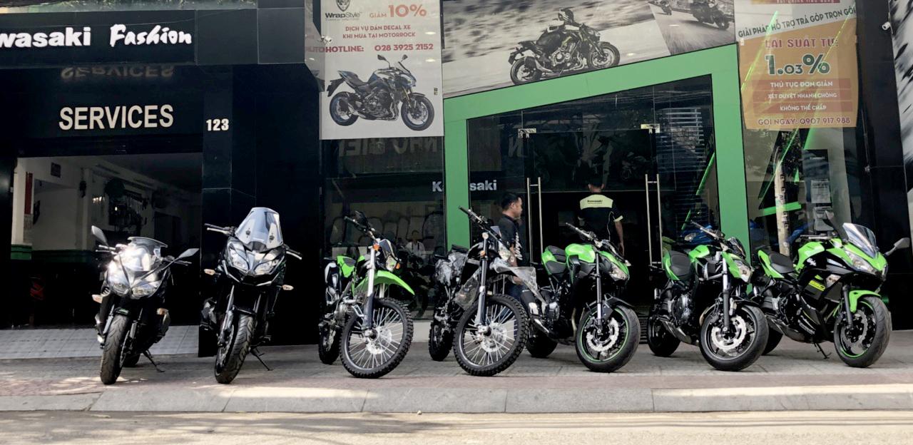 Kawasaki motorrock showroom